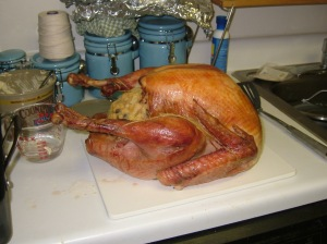 The first Thanksgiving turkey I ever cooked.